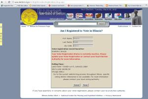 Sharon Bialek Voter Registration Status
