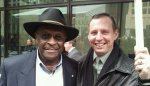 Steven Tucker with Herman Cain