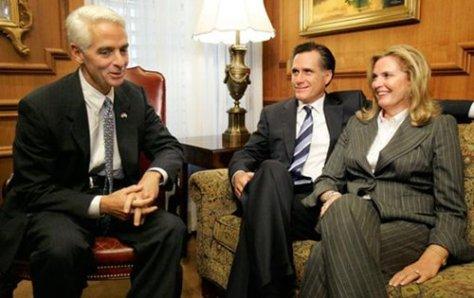 Charlie Crist with Mitt Romney