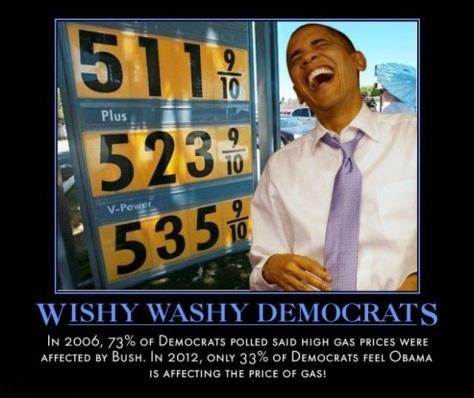 Democrats Gas Hypocrisy