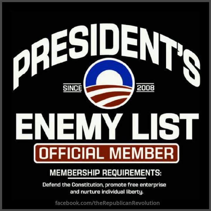 obama enemy list