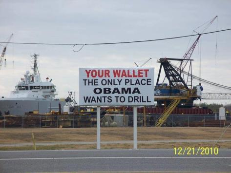 Obama wants to drill here
