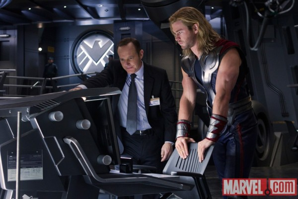SHIELD Agent Phil Coulson with Thor