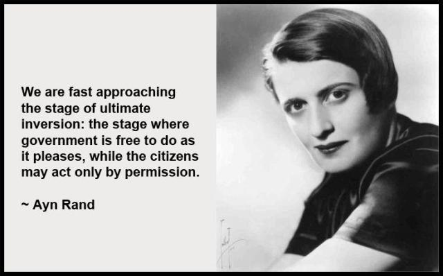 Ayn Rand Ultimate Inversion