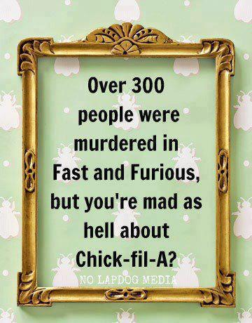 Chick fil a fast furious