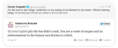 Threats to Corey Codgell 2