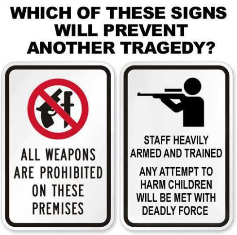 gun signs children