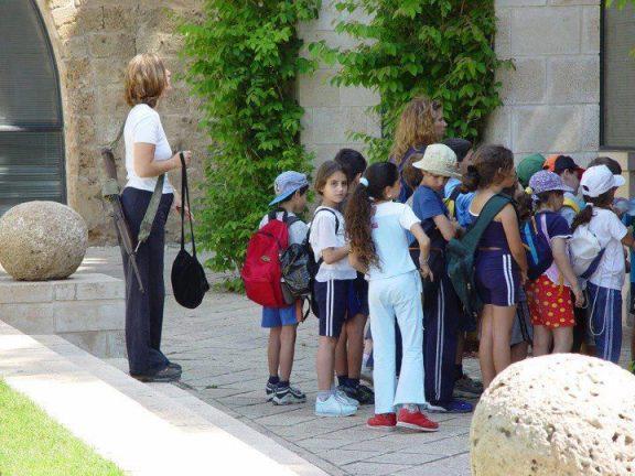 Israeli Teacher protecting  children