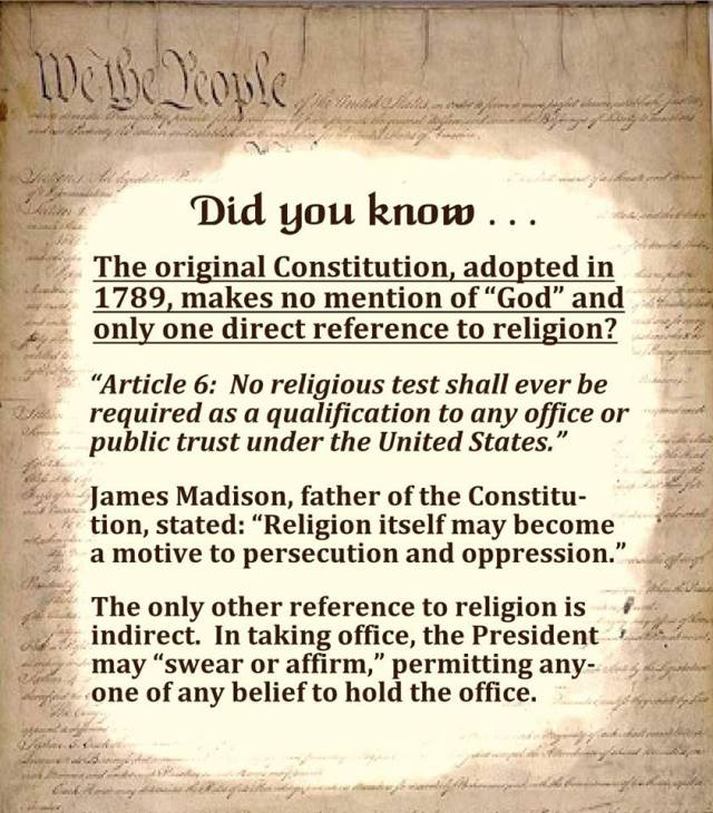 Being Liberal Godless Constitution