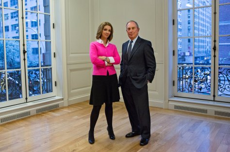Shannon Watts with Micheal Bloomberg NYT
