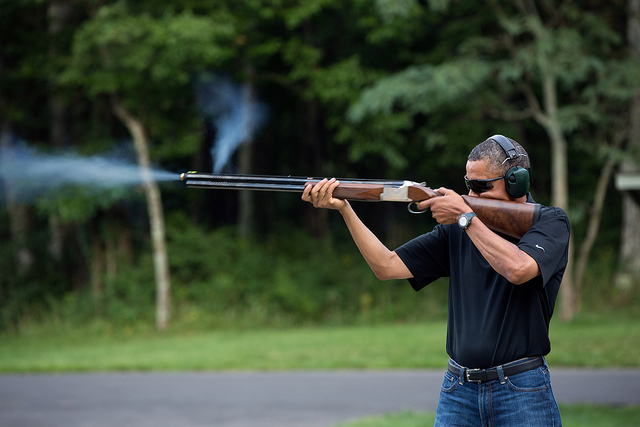 Obama skeet shooting don't be fooled