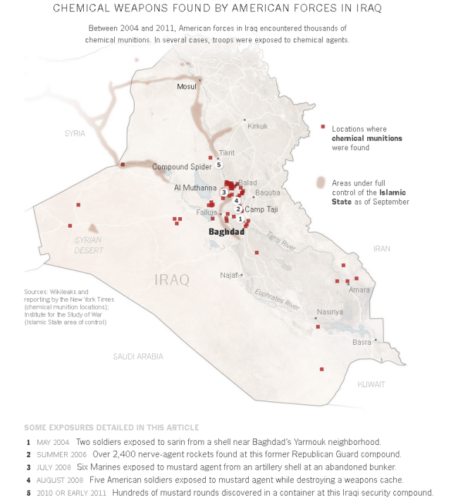 NYT Iraq Chemical Weapons Incidents 2004 2011