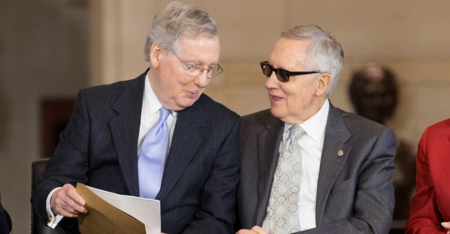 Senate Republican Leader Mitch McConnell & Democrat Leader Harry Reid