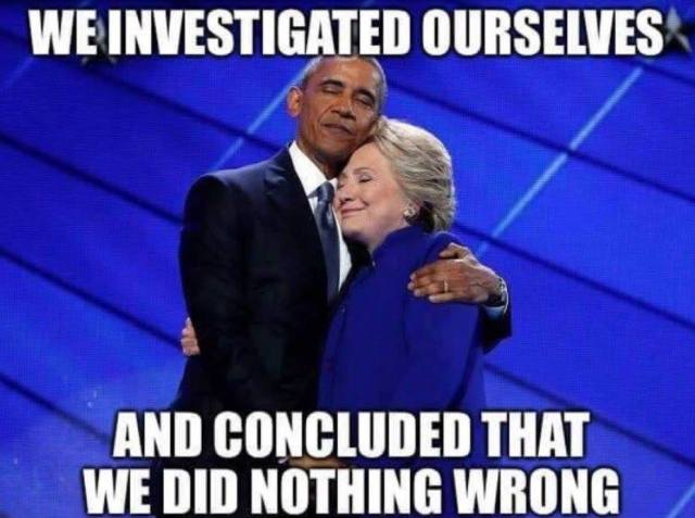 obama-clinton-we-investigated-ourselves