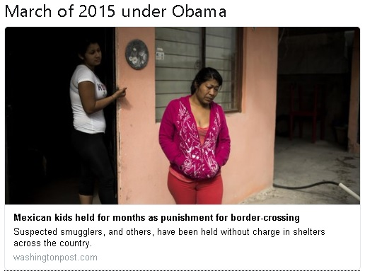 March of 2015 immigration under Obama WashPo