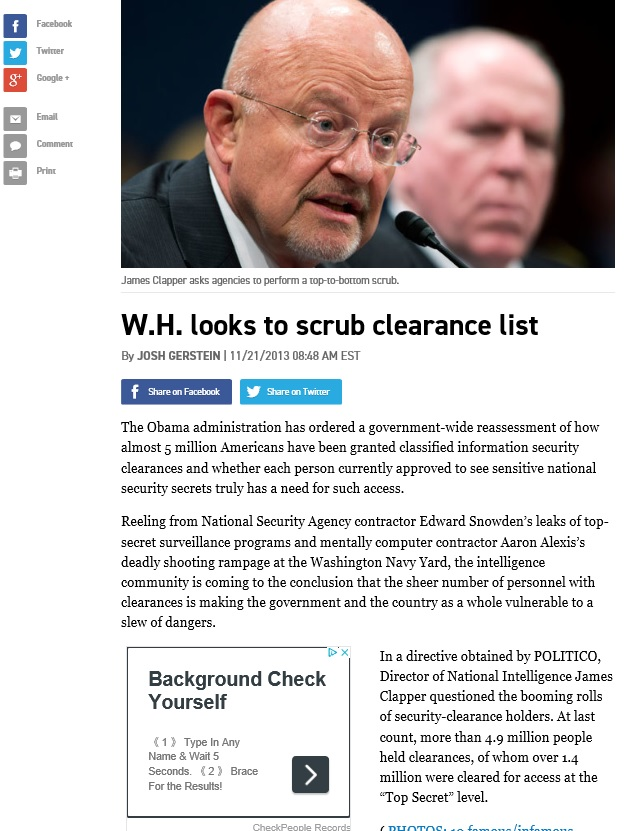 clapper clearence list 2013