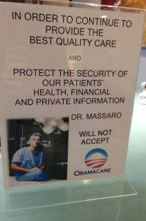 doctor will not accept obamacare
