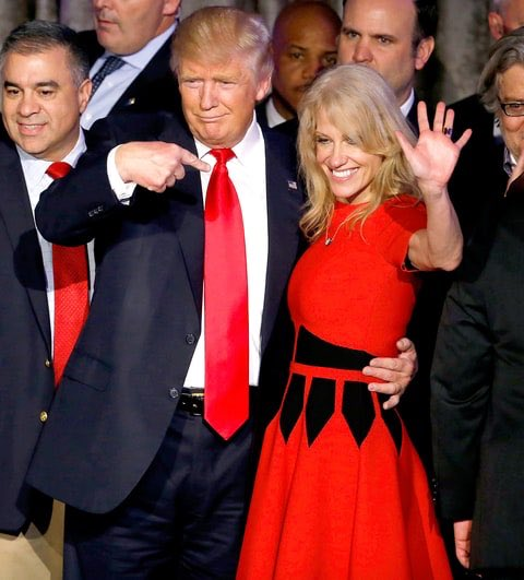 Kellyanne with Trump