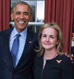 Madeleine Dean and Obama