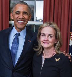 Madeleine Dean and Obama