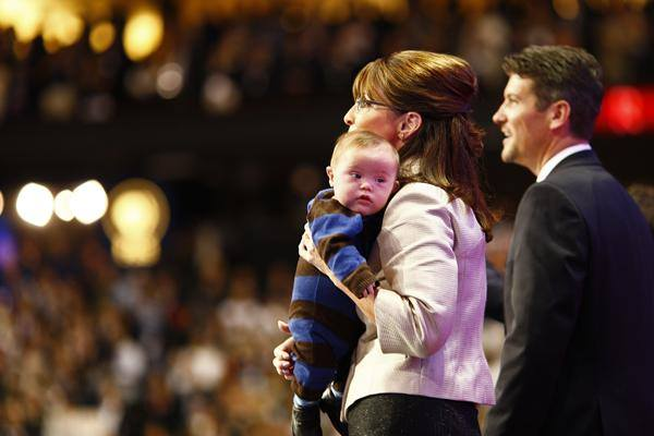 Sarah Palin Todd and baby.