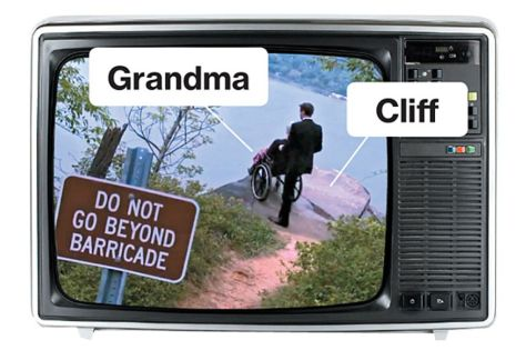 Dems tossing grandma over the cliff