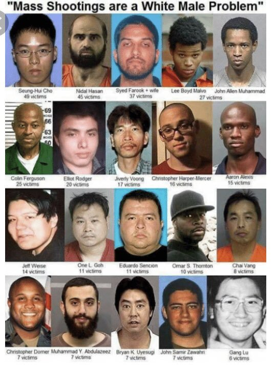 non white mass shooters