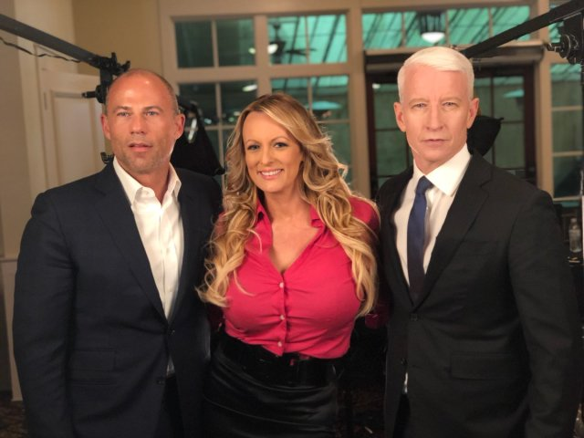 Stormy Daniels Micheal Avenatti and a CNN anchor