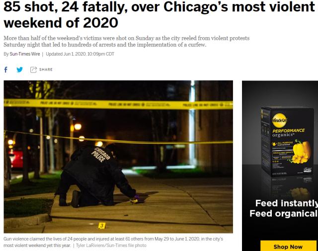 85 shot in chicago june 1 2020