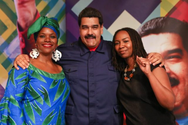 BLM founder Tometi with Maduro