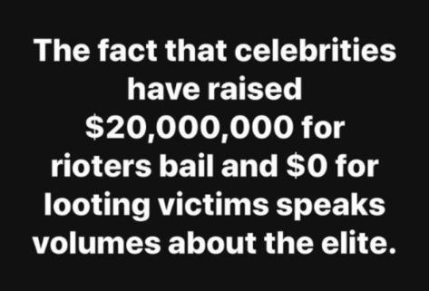 celebs raise money for antifa but not victims
