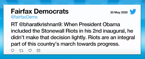 fairfax dems supporting the riots