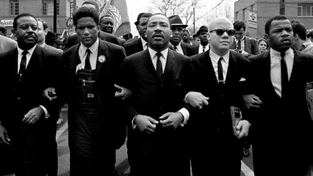 MLK leading a protest