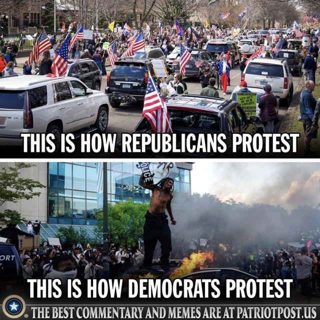 patriot post how dems protest vs gop