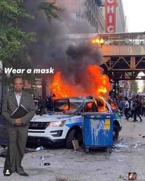 chicago lightfoot mask