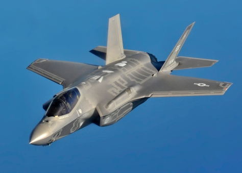 Aerial refueling of F-35 Lightning II Joint Strike Fighters at Eglin AFB, Fla.