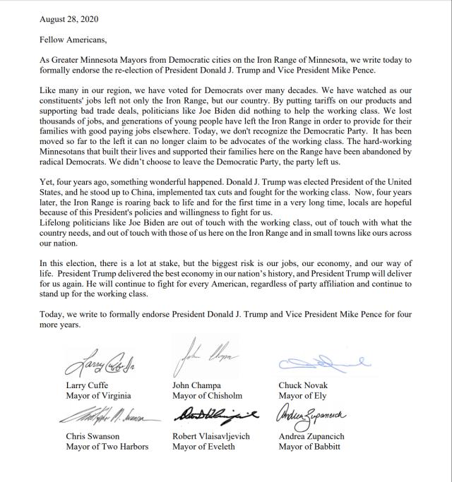 six democrat mayors minnesota endorse trump 2020-08-30 003645