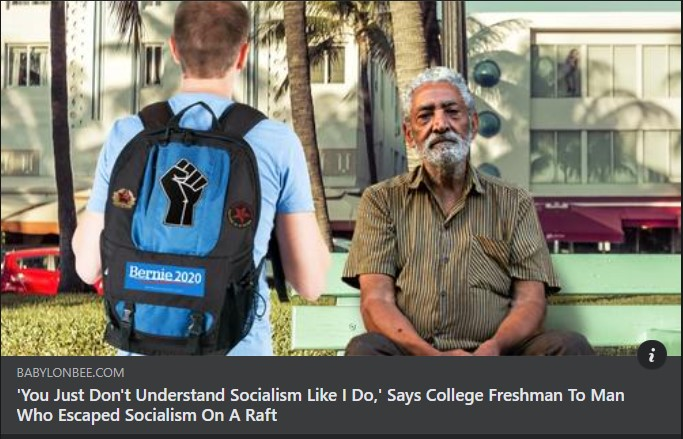 BEE college kid lectures cuban on socialism
