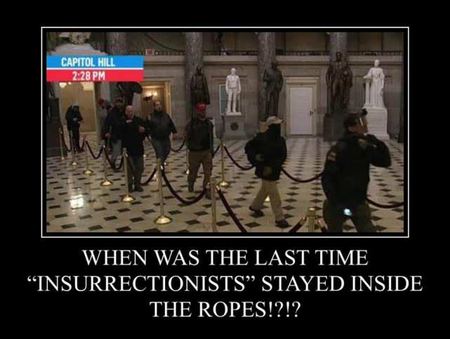 insurrectionists stayed inside the ropes