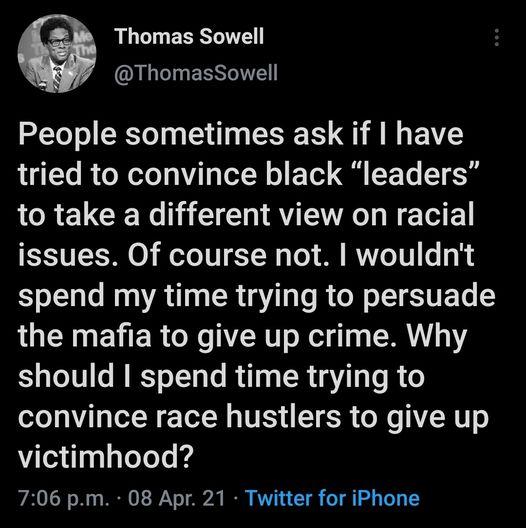 thomas sowell on race hustlers