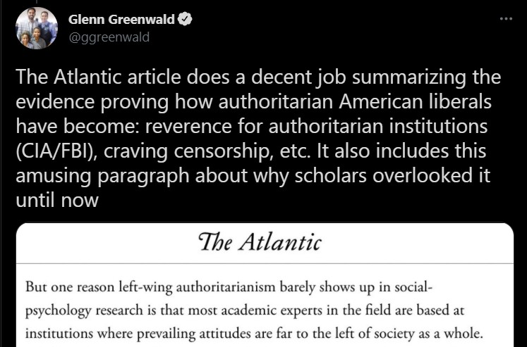 greenwald the left craves authoritarianism